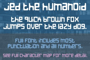 Jed the Humanoid Font - General Commercial License