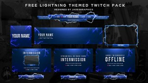 Twitch Lightning Themed Stream Pack