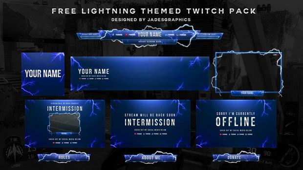 Twitch Lightning Themed Stream Pack
