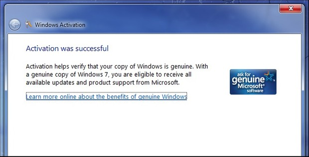 windows 7 activation website