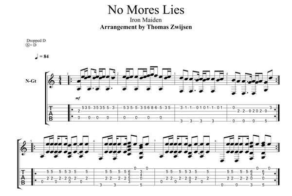 No More Lies (Iron Maiden) Tabs + Video Lesson