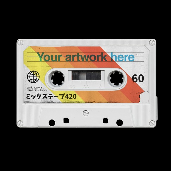 Vintage Cassette Tape Photoshop Mockup