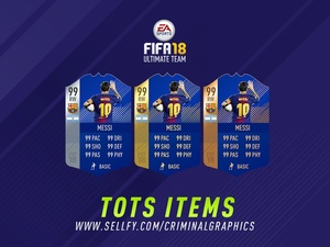 FIFA 18 TEAM OF THE SEASON ITEMS