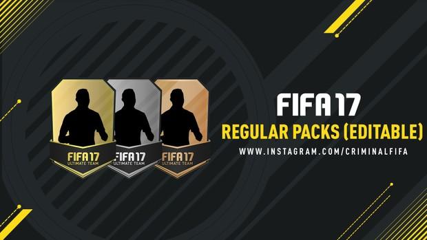 FIFA 17 REGULAR PACKS (EDITABLE)