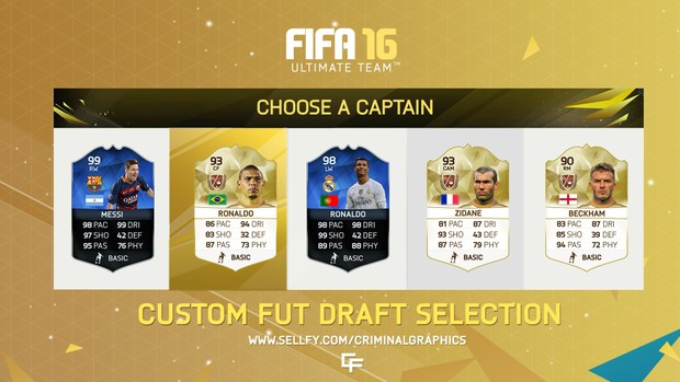 FIFA 16- CUSTOM FUTDRAFT SELECTION MENU