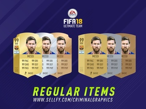 FIFA 18 REGULAR ITEMS