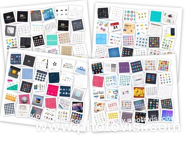 70,000 Icons Mega Bundle (+2 4GB) - 284 Social Media SEO Web Development  App iOS Icon Sets