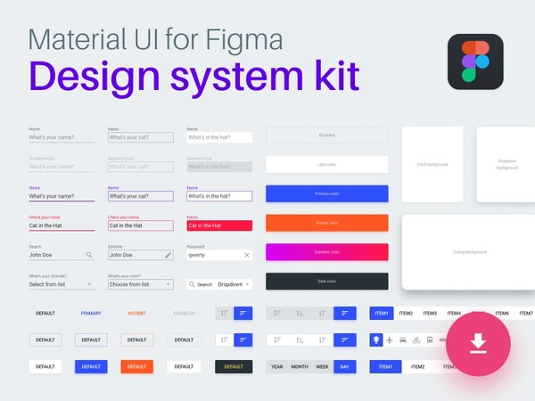 Material Design System for Figma
