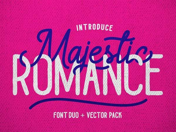 Majestic Romance - Font Duo