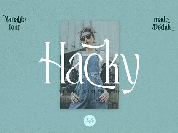 Hacky - Luxury Serif Family