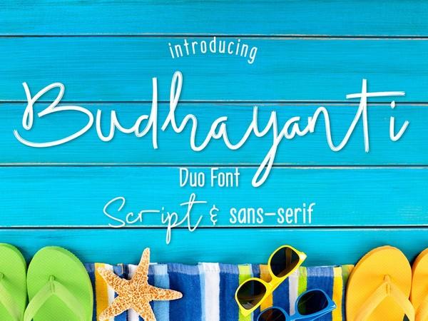 Budhayanti duo font