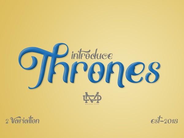 Thrones - Classic Font
