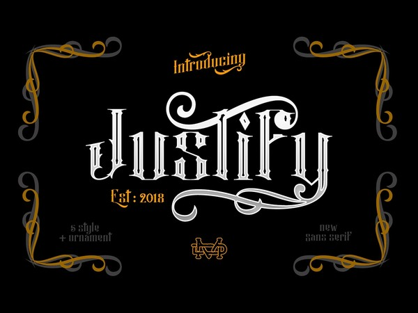 Justify I Font Package