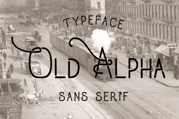 Old Alpha Fonts