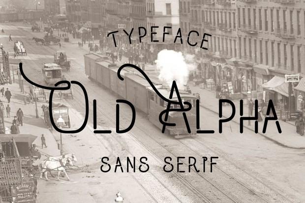 Old Alpha Fonts