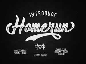 Homerun Typeface - 30%OFF