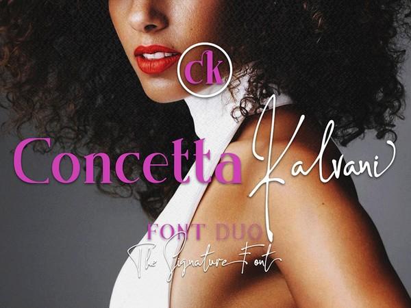 Concetta Kalvani / Signature & Serif