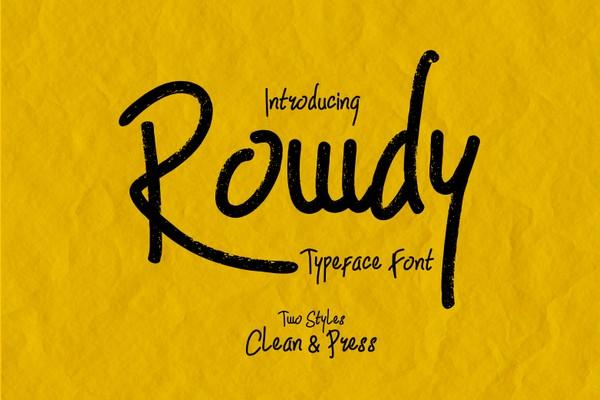 Rowdy Fonts