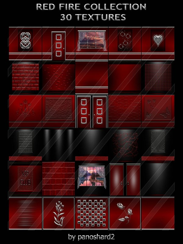 RED FIRE COLLECTION 30 TEXTURES  FOR ROOMS ( will be sold to ten creator)