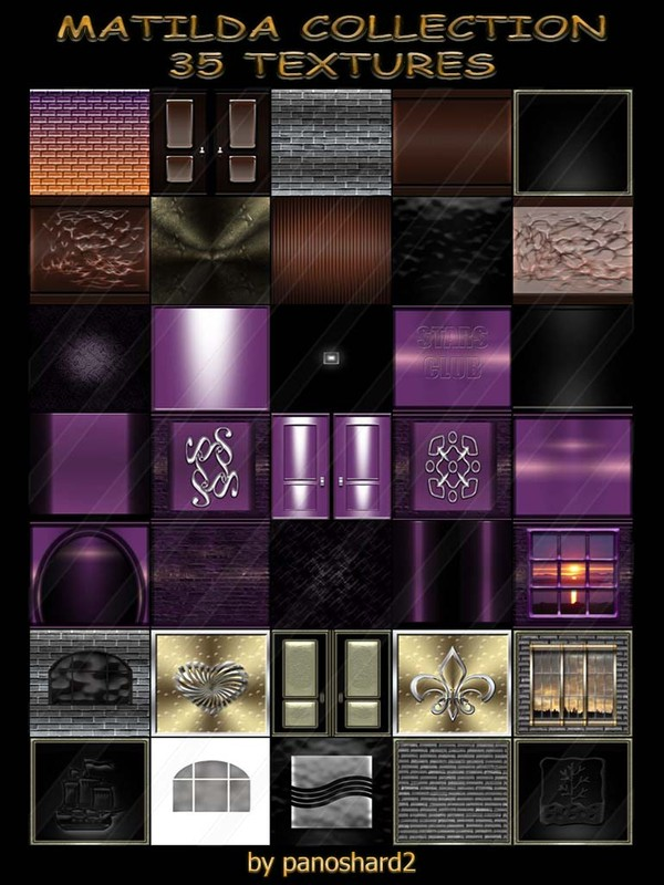 MATILDA COLLECTION 35 TEXTURES  FOR IMVU ROOMS (will be sold to ten creators) prevent !!!