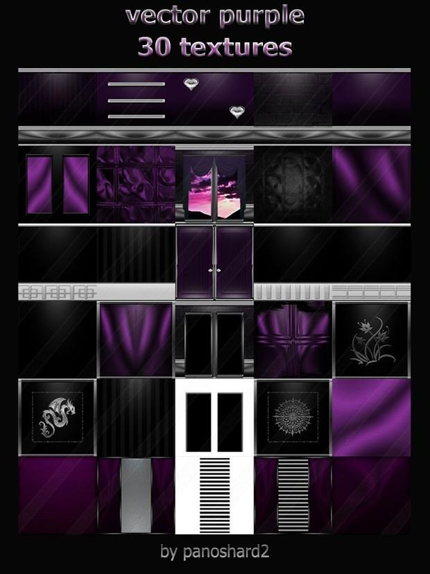 Vector purple 30 textures for imvu room