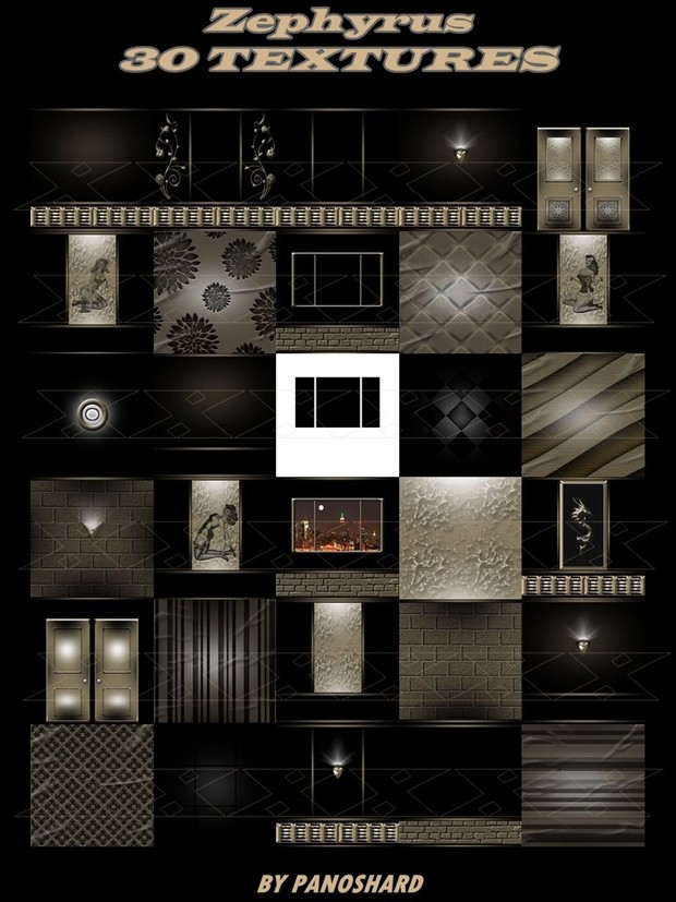ZEFYROUS 30 textures imvu room