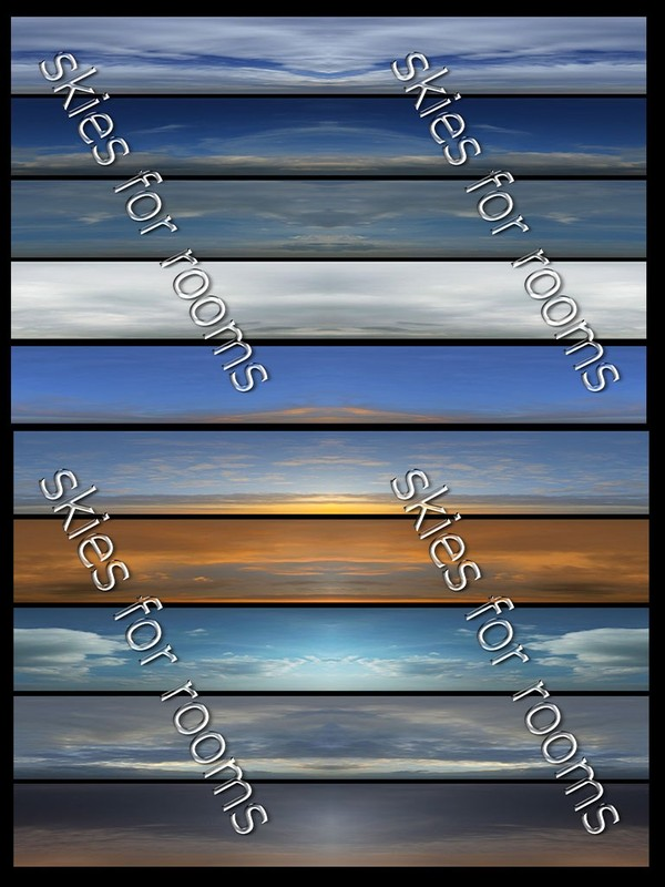 Ten textures  skies 512x256 for imvu rooms