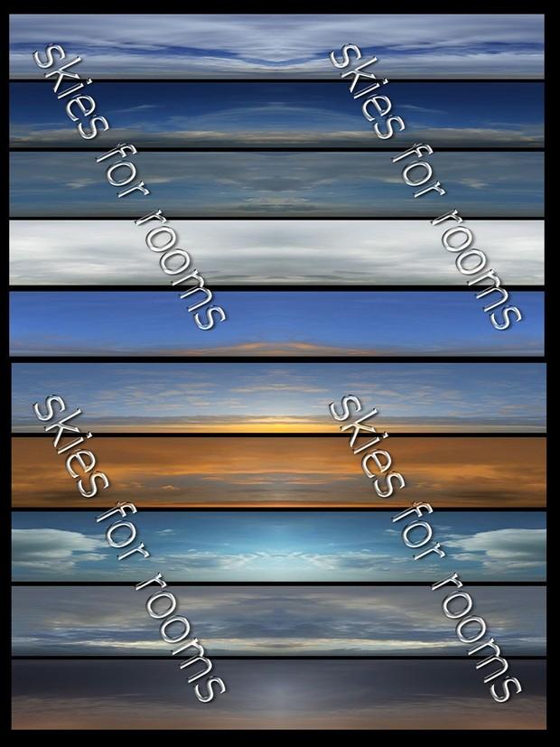 Ten textures  skies 512x256 for imvu rooms