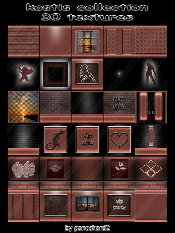 kostis collection 30 texturesfor imvu creator rooms  (will be sold to ten creators)
