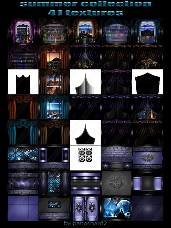 Summer collection 41 textures FOR IMVU CREATOR ROOMS