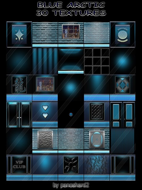 BLUE ARCTIC  30 TEXTURES  FOR IMVU CREATOR ROOMS ( will be sold to ten creator )