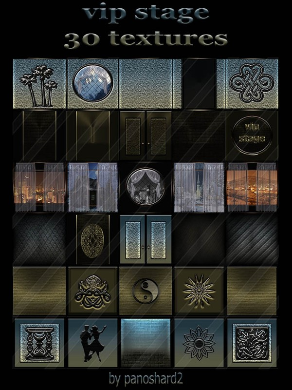 Vip stage 30 textures for imvu rooms