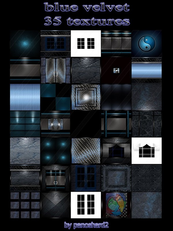 Blue velvet 35 textures for imvu rooms