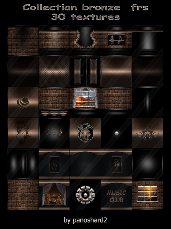 Collection bronze  frs  30 textures for imvu creator rooms (will be sold to ten creators)