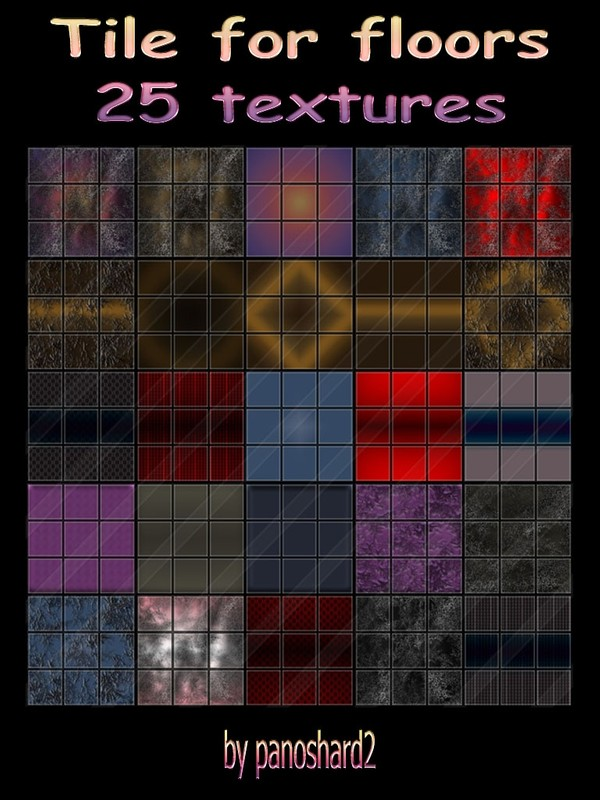 Tile for floors 25 textures for imvu rooms