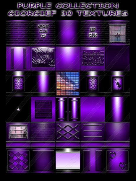 PURPLE COLLECTION GIORGIEF 30 TEXTURES FOR CREATOR IMVU (will be sold to ten creators)