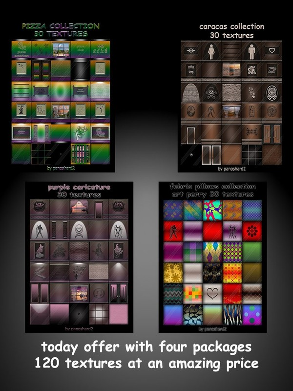 Wednesday's offer with four packages 120 textures  at an amazing price
