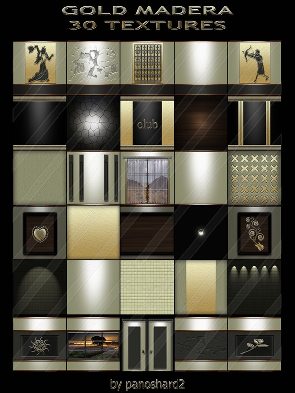 GOLD MADERA 30 TEXTURES FOR IMVU CONSTRUCTION ROOMS ( will be sold to ten creator)