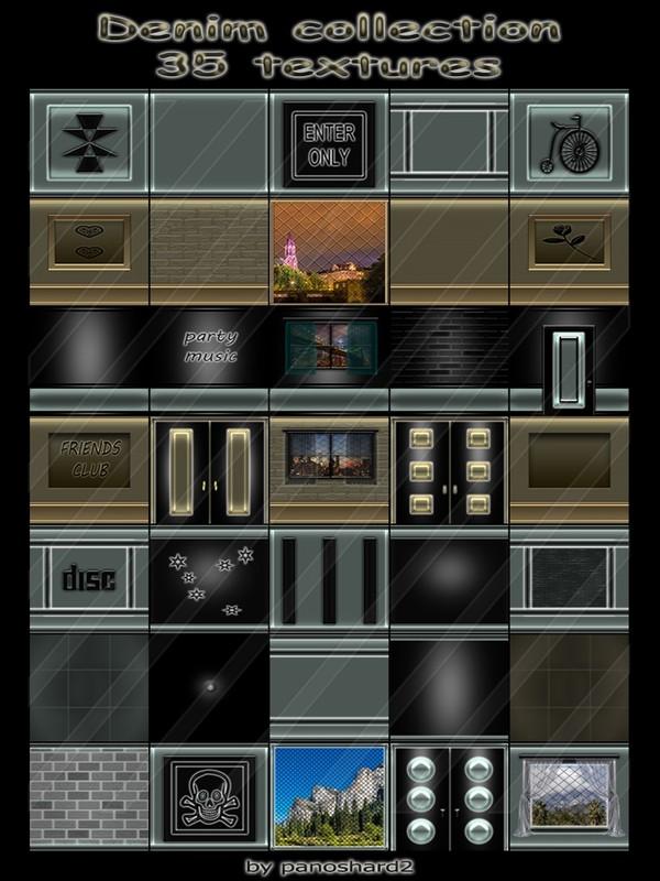 Denim collection 35 textures for imvu creator rooms  (will be sold to ten creators)
