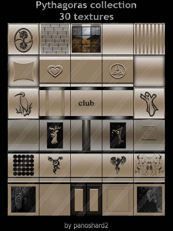 Pythagoras collection 30 textures for imvu rooms