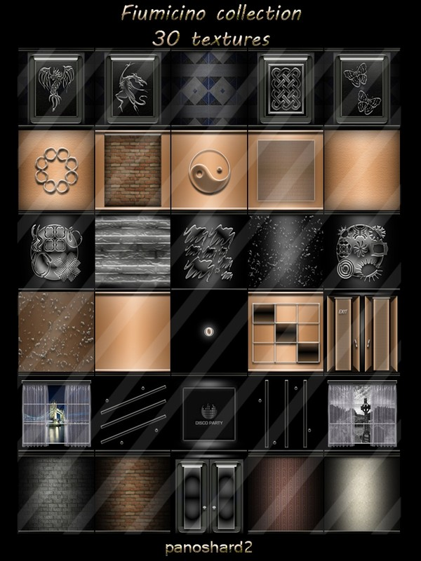 Fiumicino collection 30 textures for imvu rooms