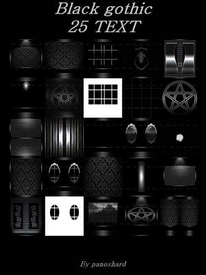 Black gothic 25 textures  imvu room