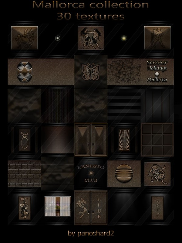 Mallorca collection 30 textures for imvu rooms
