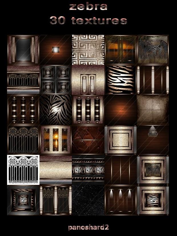 zebra 30 textures room