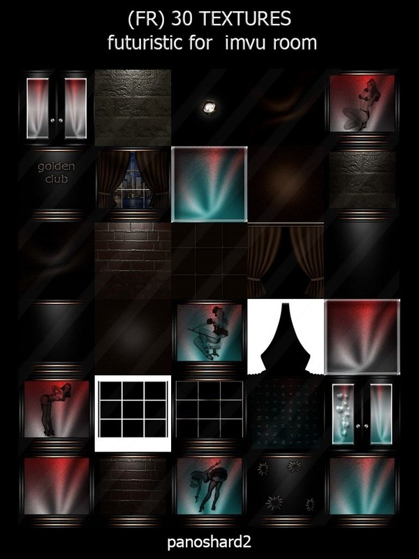 (FR) 30 TEXTURES futuristic for imvu room