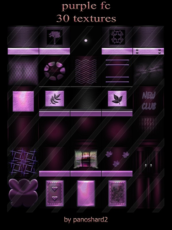 Purple fc 30 textures for imvu rooms