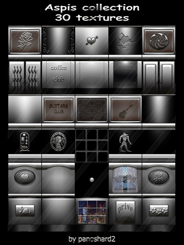 Aspis collection 30 textures for  imvu the construction of rooms ( will be sold to ten creator )