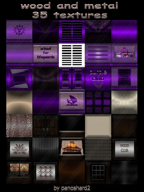 wood and metal 35 textures for imvu rooms