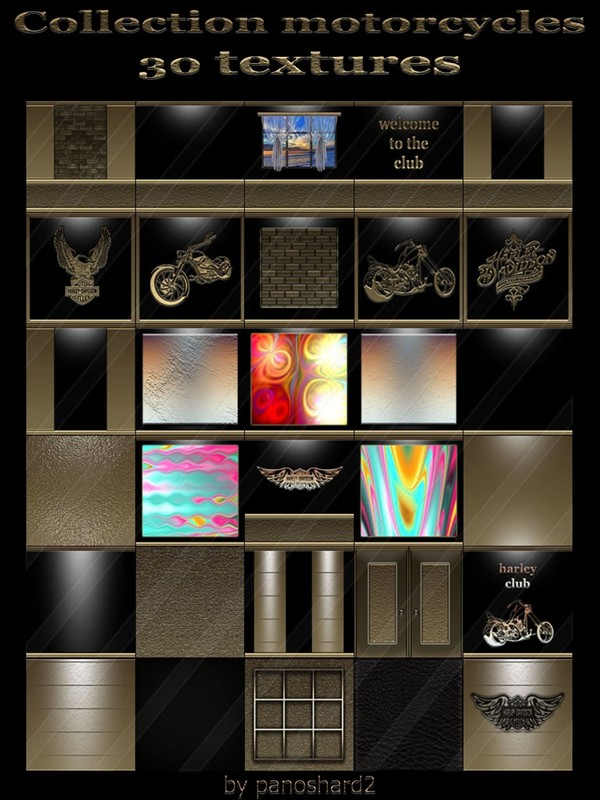 Collection motorcycles 30 textures for imvu creator rooms (will be sold to ten creators)