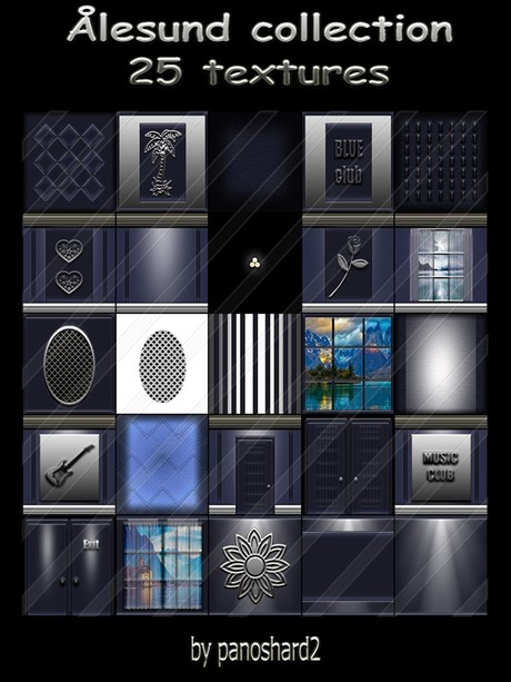 Ålesund collection 25 textures for imvu creator rooms  ( will be sold to ten creator)